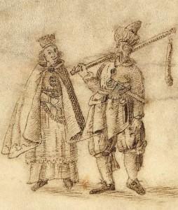 1.J. Narūnovičiaus-Naronskio  1645m. Biržų kunigaikštystės žemėlapio  fragmentas. Žemionių pora